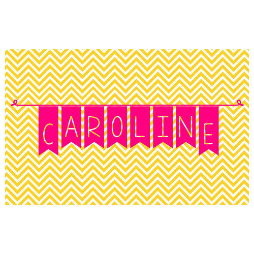 Neoprene Placemat - Style #310015 Chevron Celebrate Print