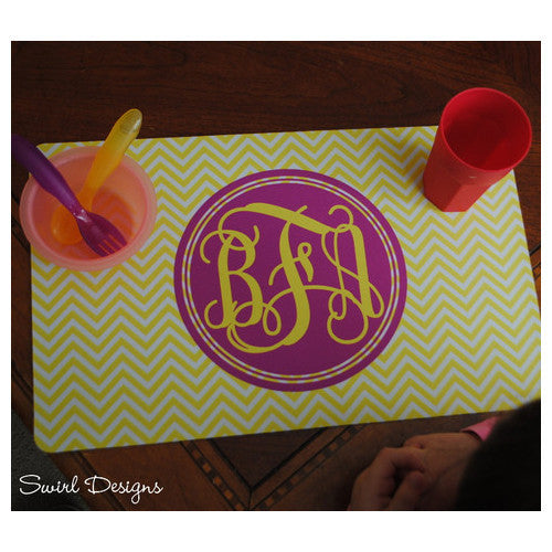 Neoprene Placemat - Style #310017 Chevron Monogram