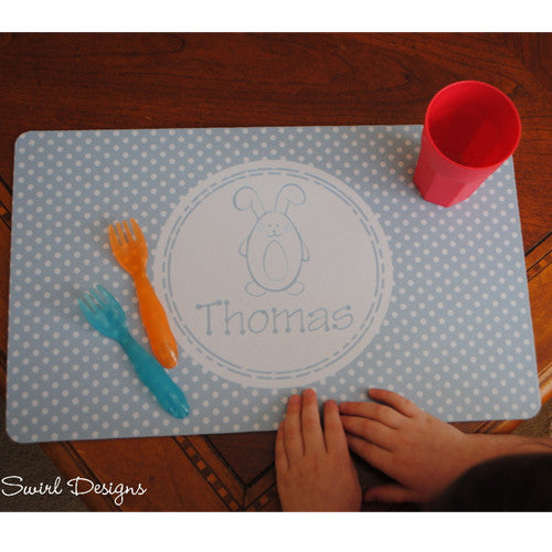 Neoprene Placemat - Style #310035 Easter Blue Bunny