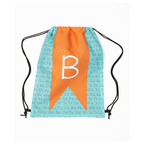 Drawstring Tote - Style #42000 ABC Initial Print