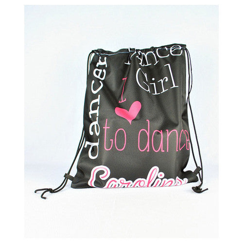 Drawstring Tote - Style #42020 Dancer Black Print