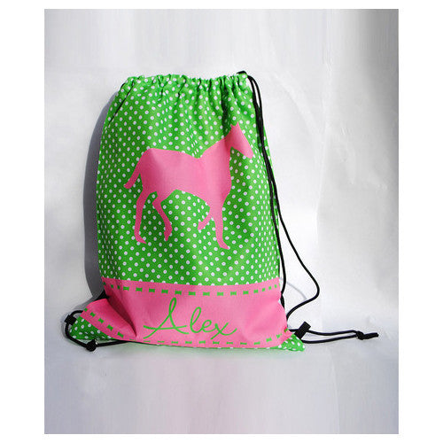 Drawstring Tote - Style #42043 Horse Print