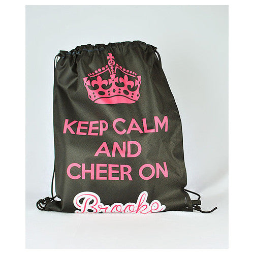 Drawstring Tote - Style #42044 Keep Calm Cheer Print