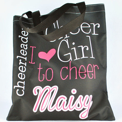 Kids tote #44027 Love to Cheer Black Print