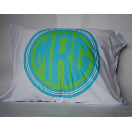 Pillowcase - Style #510004 Circle Monogram Print