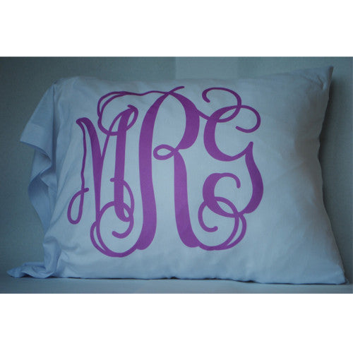 Pillowcase - Style #510009 Vine Monogram Print