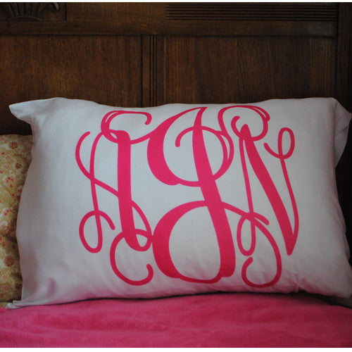 Pillowcase - Style #510012 Vine Monogram Print