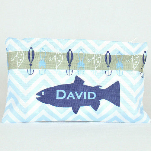 Microfiber Zip Bag - Style #516019 Gone Fishing Print