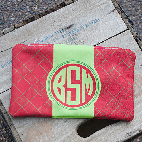 Microfiber Zip Bag - Style #516025 Plaid Print