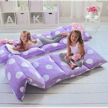 Pillow Bed - Violet with Polka Dots
