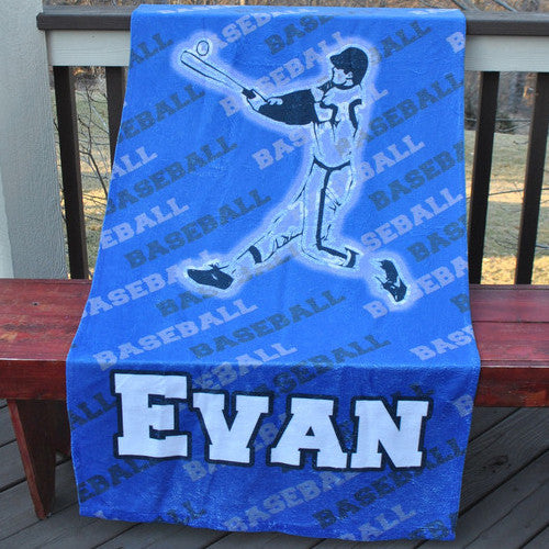 Beach Towel - Style #52006 Baseball Player Print