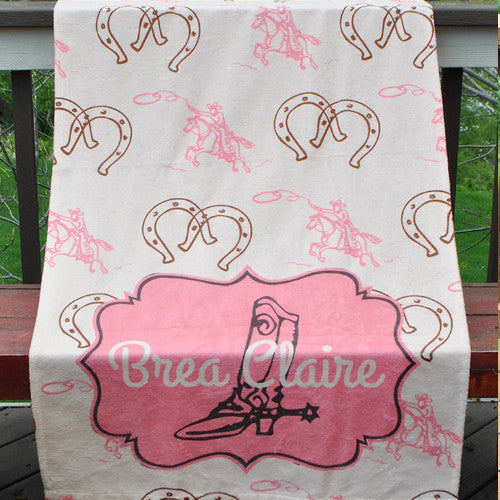 Beach Towel - Style #52027 Cowgirl Print