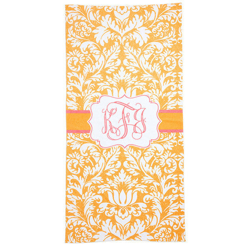 Beach Towel - Style #52028 Damask Print
