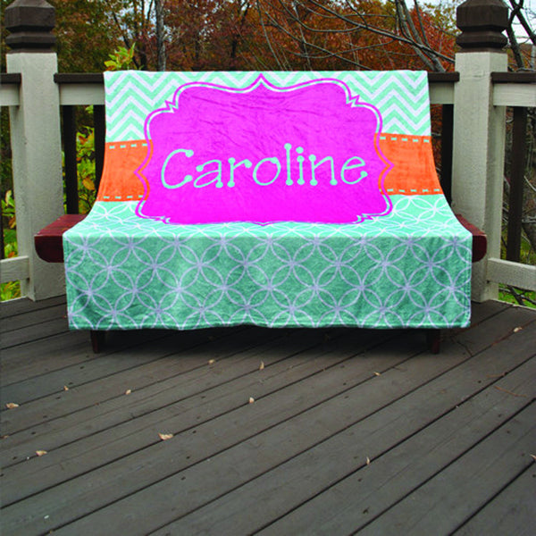 Fleece Throw Blanket - Style #56006 Caroline Print