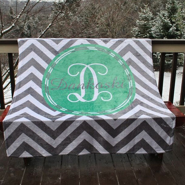 Fleece Throw Blanket - Style #56007 Chevron Print