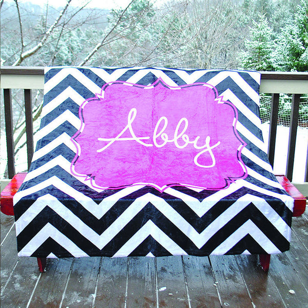 Fleece Throw Blanket - Style #56008 Chevron Print
