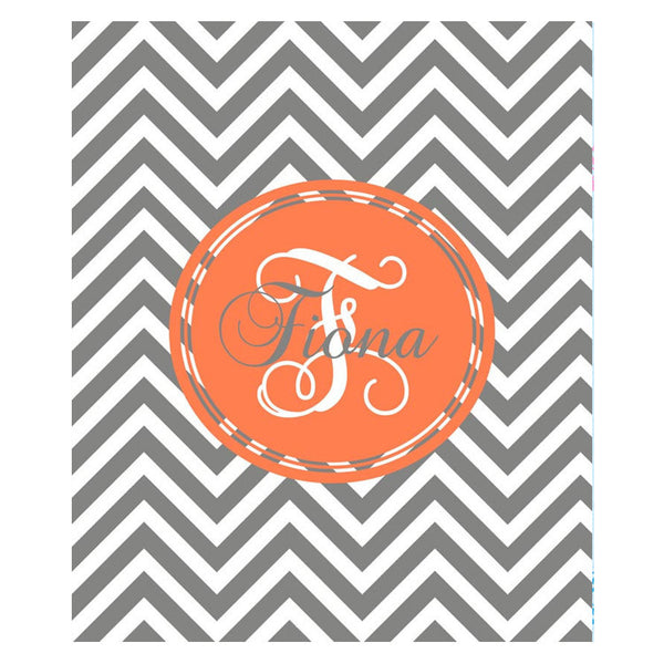 Fleece Throw Blanket - Style #56011 Chevron Print