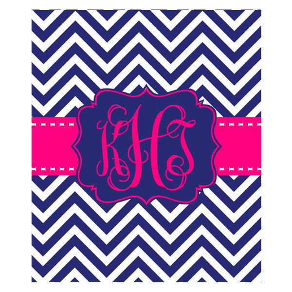 Fleece Throw Blanket - Style #56012 Chevron Print
