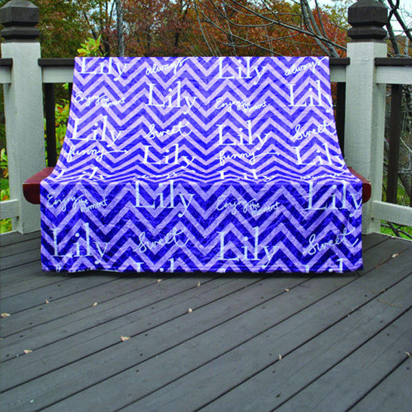 Fleece Throw Blanket - Style #56013 Chevron Print