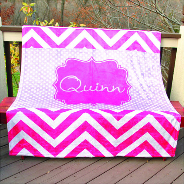 Fleece Throw Blanket - Style #56016 Chevron Print