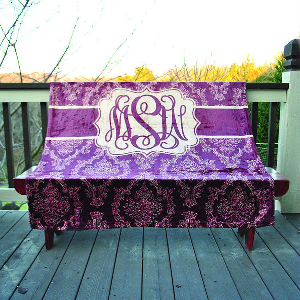 Fleece Throw Blanket - Style #56034 Damask Print