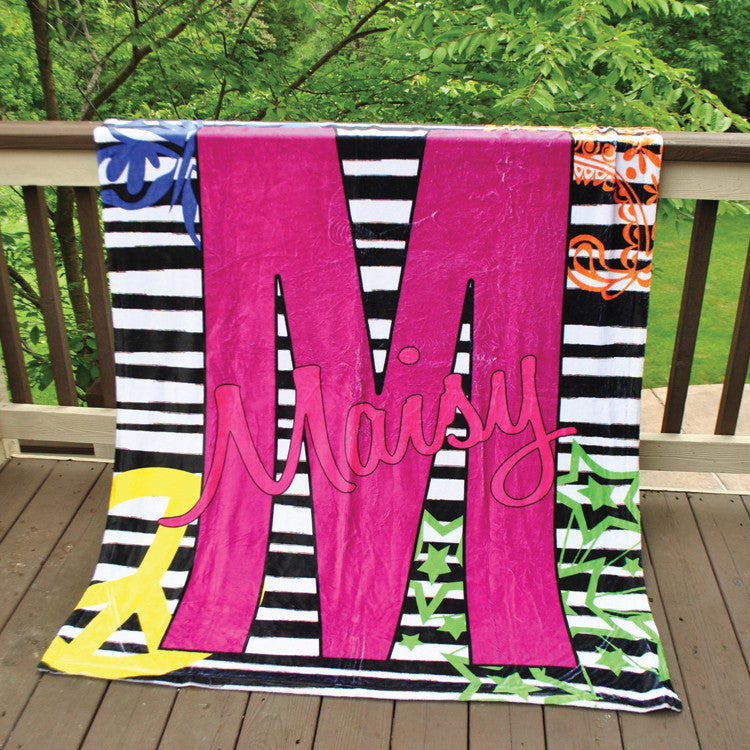Fleece Throw Blanket - Style #56055 Zebra Multi Print