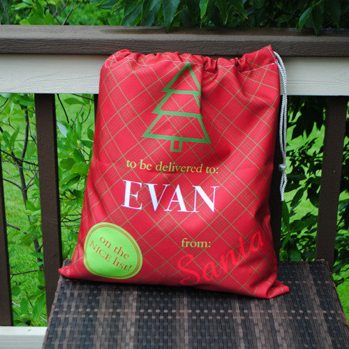 Personalized Present Bag - Red 'To Be Delivered'
