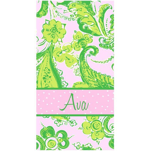Beach Towel - Style #52031 Eleanor Green Paisley Print