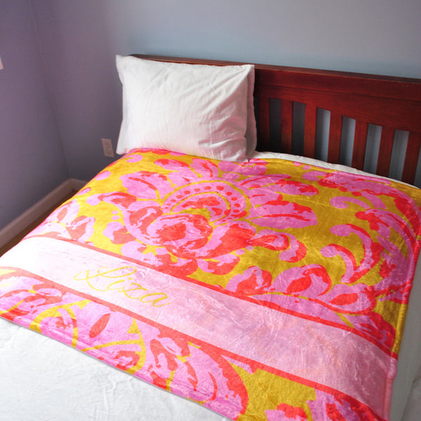 Fleece Throw Blanket - Style #56041 Eleanor Print