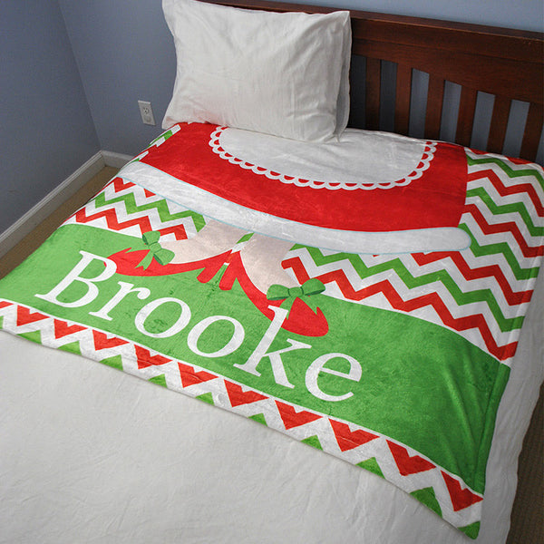 Fleece Throw Blanket - Style #56064 Holiday Print