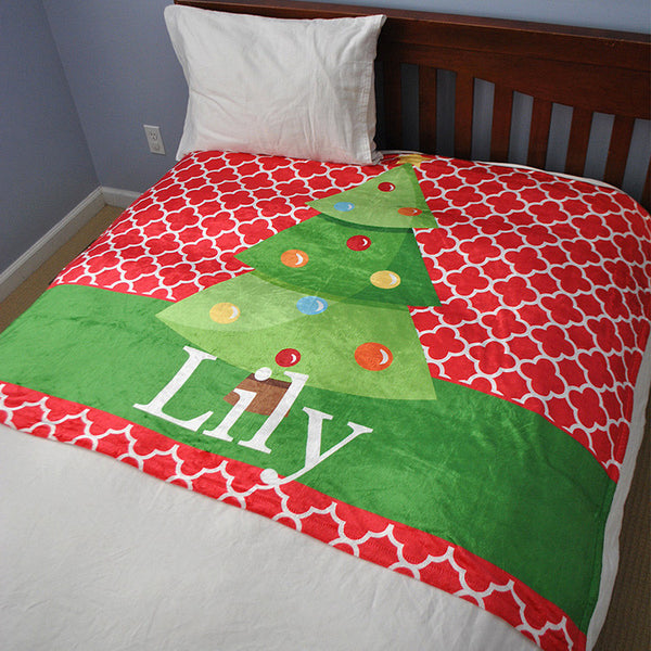 Fleece Throw Blanket - Style #56066 Holiday Print
