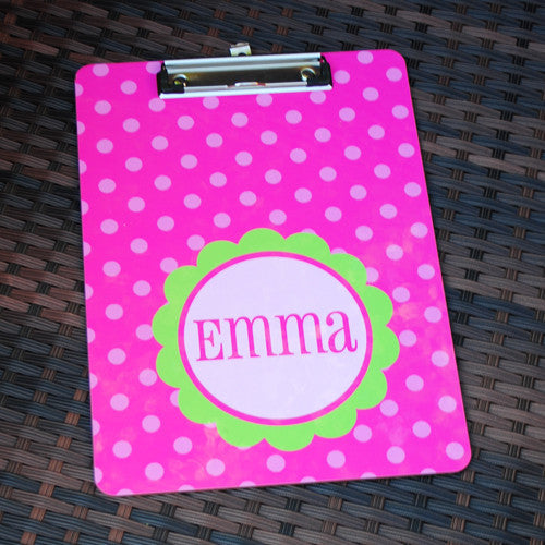 Clipboard - Large Flower Hot Pink & Lime Print