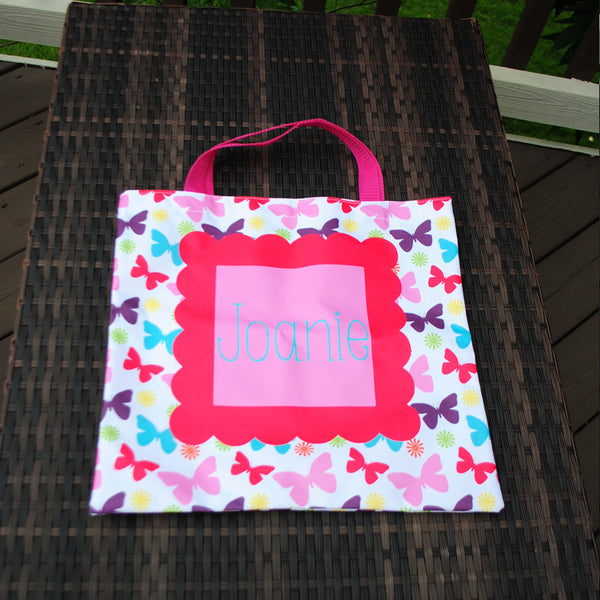 Everyday Tote - Rainbow Butterfly Print