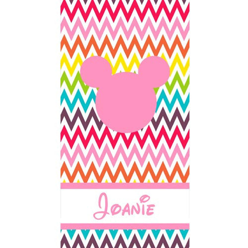 Beach Towel - Style #52078 Rainbow Chevron Print