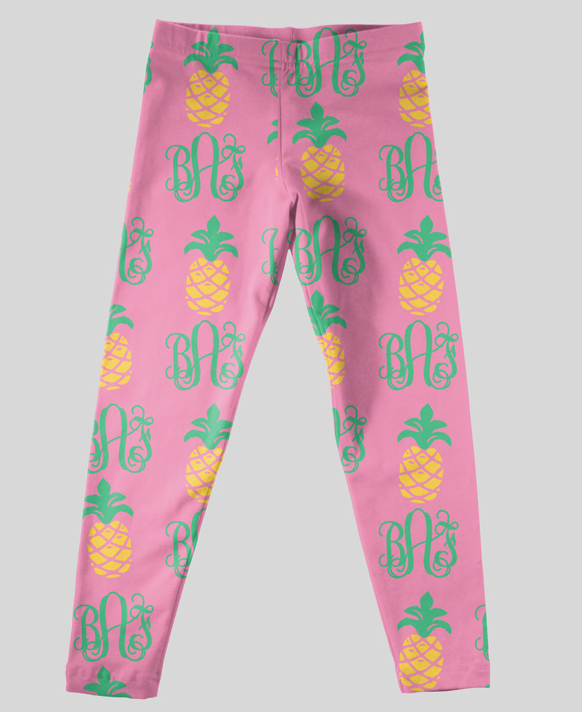 Youth Leggings - #214002 Pineapple Dreams