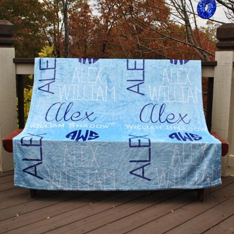 Fleece Throw Blanket - Style #56081 Name Print