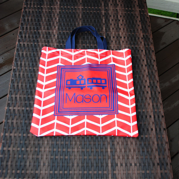 Everyday Tote - Mosiac Red Car Print