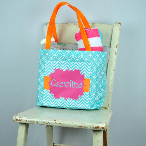 Pocket Beach Bag - Caroline Print
