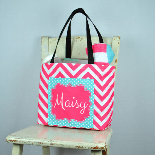 Pocket Beach Bag - Maisy Print