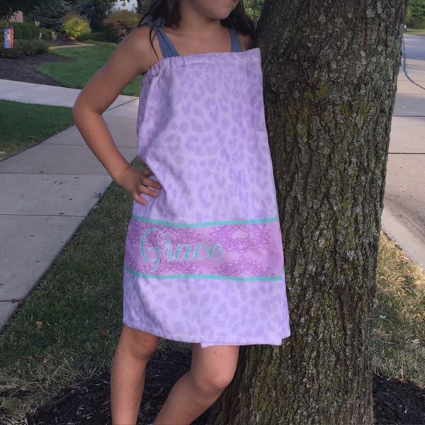 Youth Spa Wrap - Style #210006 Eleanor Purple Print