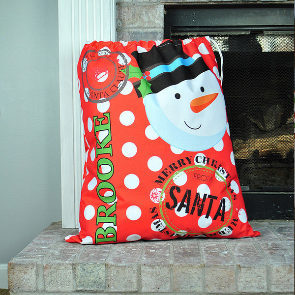 Personalized Present Bag - Style #72006 Holiday Print