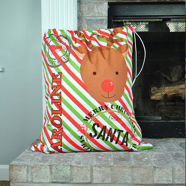 Personalized Present Bag - Style #72005 Holiday Print