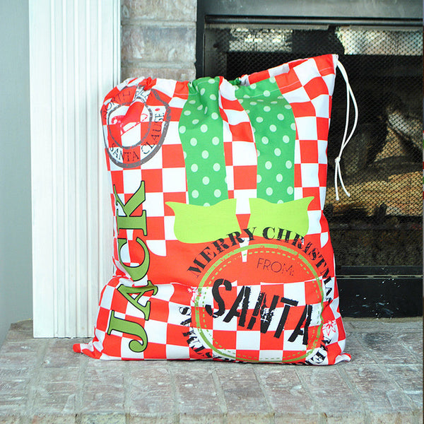 Personalized Present Bag - Style #72004 Holiday Print
