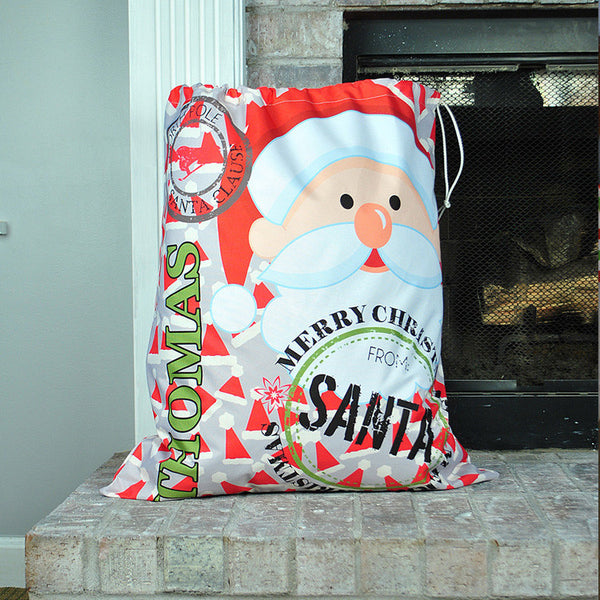 Personalized Present Bag - Style #72007 Holiday Print