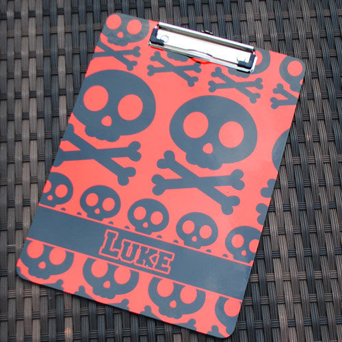 Clipboard - Skull Red & Black Print
