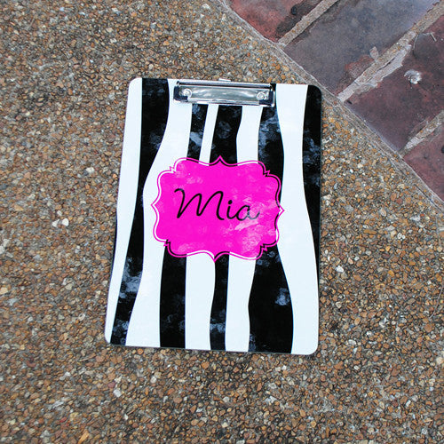 Clipboard - Zebra Flair Print