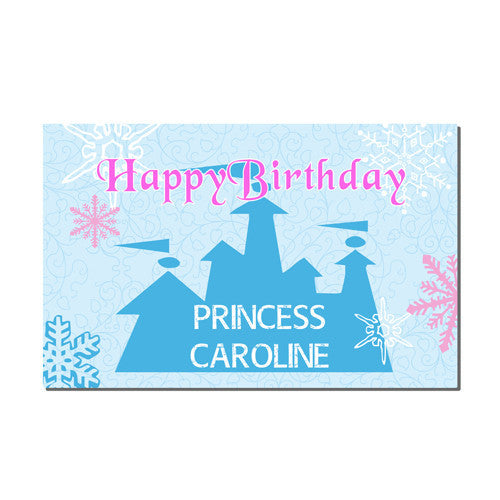 Neoprene Placemat -  Birthday Princess Print
