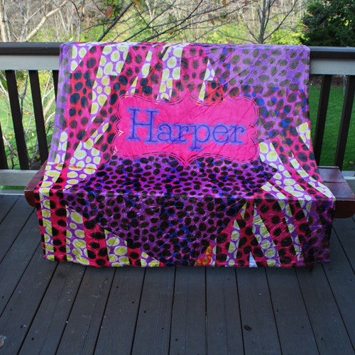 Fleece Throw Blanket - Funky Cheebrah Print