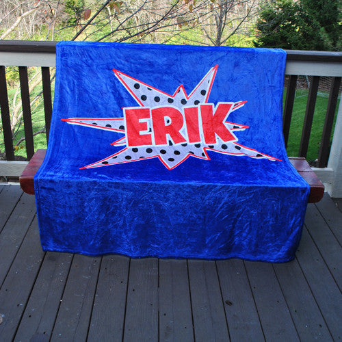 Fleece Throw Blanket - Superhero Print