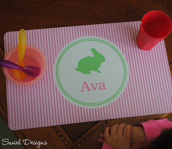Neoprene Placemat-Easter Pink Stripe